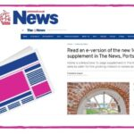 """New """"Homes"""" supplement launched with The News, Portsmouth's local newspaper."""